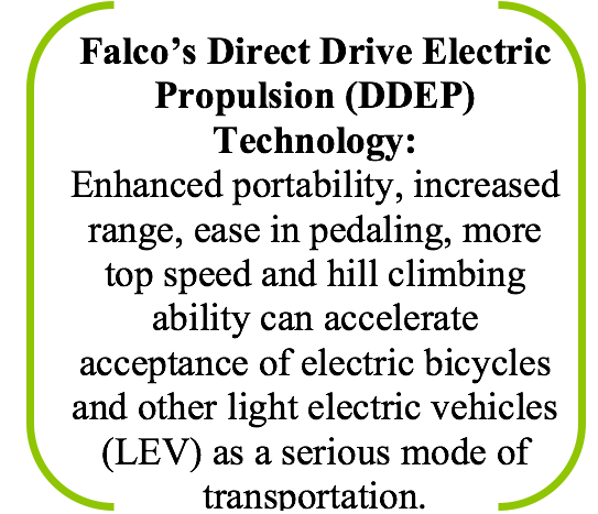 Falco's Direct Drive Electric Propulsion Technology