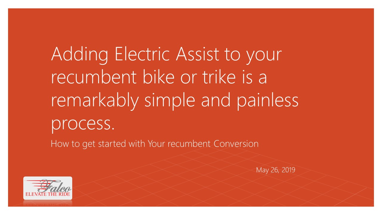Adding Electric Assist to Your Recumbent