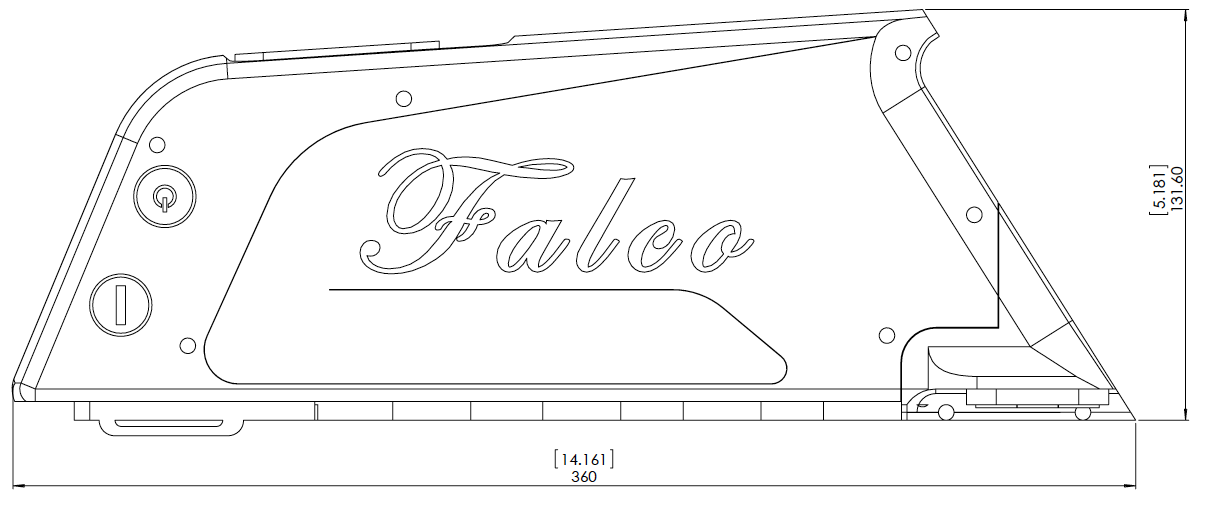 Falco LI7 Battery Dimensions